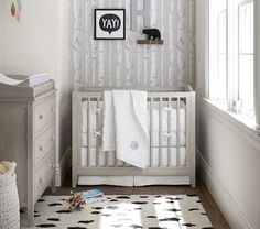 Create your dream nursery for your baby girl with Pottery Barn Kids' baby girl bedding. Shop baby girl crib bedding that will add style to your nursery. Cribs For Small Spaces, Small Crib, Small Space Nursery, Small Baby, Mini Crib Bedding, Baby Boy Bedding, Baby Bedroom, Bedding Sets, Girls Bedroom