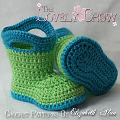 "Baby Booties - cute!  Would be great for bigger kids who love their boots and can have ""slipper"" boots for indoors :)"