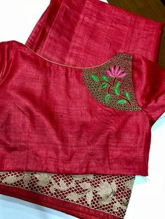 Sophisticated designer blouses with sari online See more details on -- Simple Blouse Designs, Blouse Back Neck Designs, Designer Blouse Patterns, Fancy Blouse Designs, Gold Designs, Blouse Models, Saree Blouse, Saree Dress, Aari Embroidery