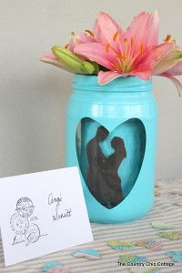 Silhouette Centerpieces | AllFreeHolidayCrafts.com Choose coordinating wedding colors for table centerpieces