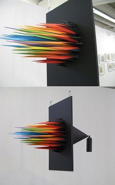 spray paint art installation