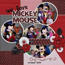 Mickey Head Minnie - MouseScrappers - Disney Scrapbooking Gallery