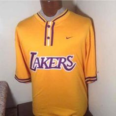 EXC Nike LA LAKERS Warm Up Shirt Jersey Nba Apparel b9d934494