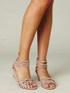 nice color, slight wedge heel and small straps.