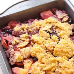 Gluten-Free Blueberry Peach Cobbler, Wholeliving.com #lunchbunch