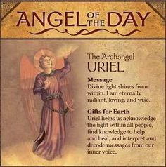 """ST.URIEL ARCHANGEL.The name means """"Fire of God""""."""