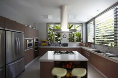 Morumbi Residence, a modern two story home located in São Paulo, Brazil