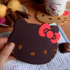 Hello Kitty coasters - Cute coasters for playroom or little girl's room