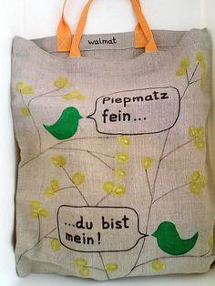 Stoffbeutel Jutebeutel Leinenbeutel Tote Bag dip dye Jute, Austria, Dip, Germany, Reusable Tote Bags, Purses, Flowers, Etsy, Design
