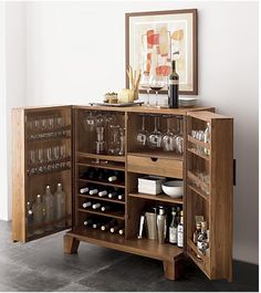 Marin Bar Cabinet!!! Finally a place to store all those infrequently used glasses that you have to have.