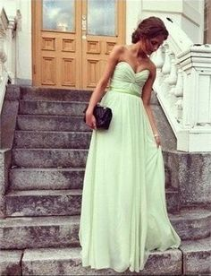 Mint Green Long Prom DressMint Bridesmaid dress by AlexDress, $115.00