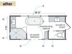 Bathroom Remodel Floor Plans master bathroom renovation floor plan from interior design project