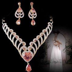 Prom Jewelry | bridal jewelry set wedding jewelry bridemaid gown evening dress bride ...