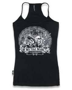 Liquor Brand Damen LA VIDA Tank-Tops.Tattoo,Pin Up,Rockabilly,Biker,Custom Style