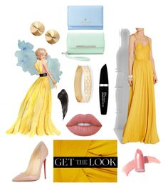 """""""Get the Look: Met Gala 2016"""" by autumnmagic ❤ liked on Polyvore featuring Cédric Charlier, Christian Louboutin, Rachel Zoe, Charlotte Russe, Kate Spade, Elizabeth Arden, Lime Crime, Eddie Borgo, Stella & Dot and Max Factor"""
