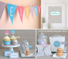 Printable Eid Decorations Pack Mosaic Design by LittleWingsGallery, $10.00