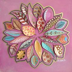 by bicocacolors - Elena Nuez Nature Crafts, Fall Crafts, Arts And Crafts, Leaf Crafts, Diy Crafts, Paper Art, Paper Crafts, Deco Nature, Art Nature