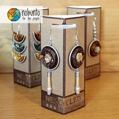 handcrafted jewellery #nescycled #nobunto #handcrafted #earrings #Recycling #Upcycling #SouthAfrica #FairTrade