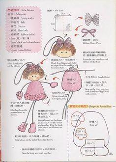 broche------Creio que possa se adaptar as perninhas para tecido. doll pattern •♥..Nims..♥.•: