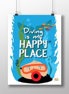 Divers - show your love for the underwater world. Print a poster, t-shirt or even a tote bag - get creative!