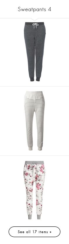 """""""Sweatpants 4"""" by musicmelody1 on Polyvore featuring activewear, activewear pants, pants, bottoms, sweatpants, jeans, sweats, sweat pants, tapered sweat pants and tapered sweatpants"""