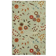 Rizzy Home Eden Harbor Circles Rug in Blue