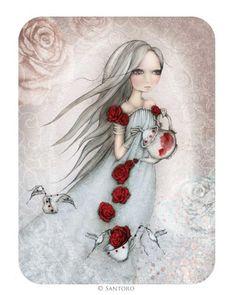 Santoro's Eclectic Cards - Rose Tea