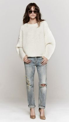 Abbey Pullover by Soyer - basically identical to the outfit I'm wearing right now.