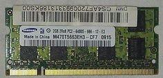 Samsung M470T5663EH3-CF7 (1x 2 GB, DDR2 SDRAM, 800 MHz, SO DIMM 200-pol.) RAM...