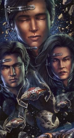 Jacen, Anakin and Jaina Solo Force meld. Jaina looks a lot like Leia: her mother Darth Caedus, Darth Revan, Star Wars Rpg, Star Trek, Jacen Solo, War Novels, Han And Leia, Star Wars Characters, Sith