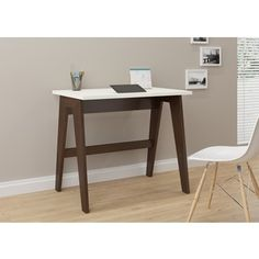 Potential craft table. Trendline 26107 Off-white Wood and Laminate Home Office Desk. $253.00