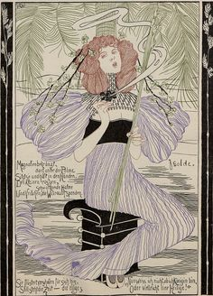 Magazine illustration by J.R. Witzel, 1896