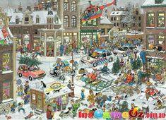 Pieces: 1000 Manufacturer: Jumbo Puzzle size: 49cm by 68cm Artist: Jan Van Haasteren