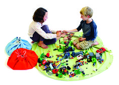 Toy storage solution ... play area and storage system in one (great for Legos or small toys)