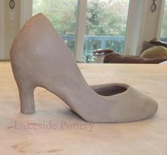 How to make a shoe from slabs with soft rib and extra clay smooth to finish clay project