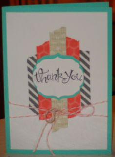 We are loving the washi tape background on Rebecca McHaffie's cute card!