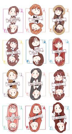 Overlays Tumblr, Japanese Girl Group, First Art, Aesthetic Stickers, Kpop Fanart, The Wiz, Anime Chibi, K Idols, Kpop Girls