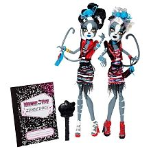Monster High Zombie Shake Meowlody and Purrsephone Doll 2-Pack