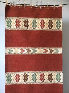 Swedish/folk art/kilim/woven/rug/hand loomed/wall hanging/traditional/boho by WifinpoofVintage on Etsy Swedish Weaving, Home Goods Decor, Woven Rug, Bohemian Rug, Boho, Vintage Rugs, Fiber Art, Folk Art, Hand Weaving