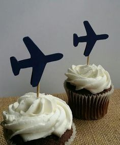 Airplane Cupcake Toppers Airplane Party by madgicalcreations