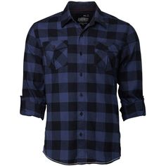 L/S Toba R/U Check Shirt - Jeanswest ($37) ❤ liked on Polyvore featuring tops, men, shirts, guys, checked shirt, checkered shirt, blue checked shirt, blue top and blue shirt