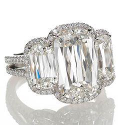 ASHOKA MICROSET TRILOGY RING IN PLATINUM - William Goldberg diamond ring / OH BABY
