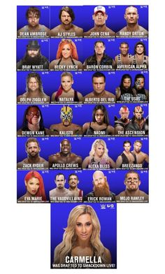 """""""Smackdown Draft Results"""" by wwediva72 ❤ liked on Polyvore featuring beauty"""