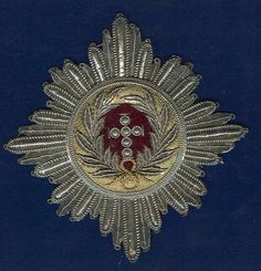 Denmark Medal Order of Elephant Embroidered Breast Star, Early type.