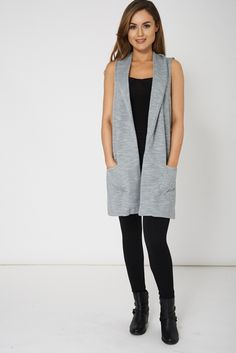 Grey Sleeveless Waistcoat With Pockets......Available In Plus Sizes    - Two Front Pockets  - Soft Textured Material  - Sleeveless  - Relaxed Fit  Material:   - 97% Polyester  - 3% Elastane | Shop this product here: http://spreesy.com/Riskcontour/19 | Shop all of our products at http://spreesy.com/Riskcontour    | Pinterest selling powered by Spreesy.com