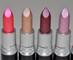 Mac Glitter Lipstick, Lipstick Shades, Mac Lipsticks, Lipstick Collection, Makeup Collection, Love Makeup, Beauty Makeup, Skin Makeup, Makeup Junkie