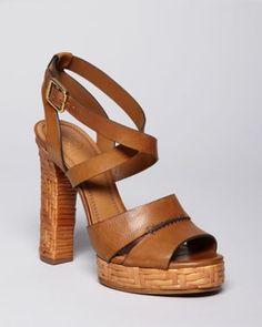 7c2e390b5db tory burch platform sandals - summer love Brown Shoe