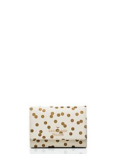 Kate spade business card holder organization solutions for your next night out trade your full sized wallet for the darla a teeny smart wallet thats part card holder part coin purse clocking in at only reheart Choice Image