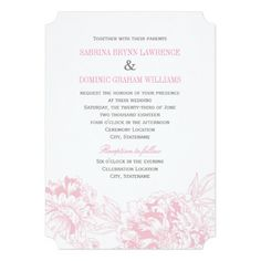 Elegant and romantic peony wedding invitation design in pink and pewter gray color scheme. Spring Wedding Invitations, Gold Invitations, Floral Invitation, Wedding Invitation Design, Invitation Cards, Invites, Hobby Lobby Wedding Invitations, Coral And Gold, Coral Pink