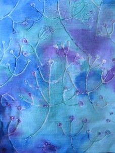 make design on fabric with elmers glue. let dry then iron then wash out glue  glue gel resist_design painted_knudsen_blog_2011